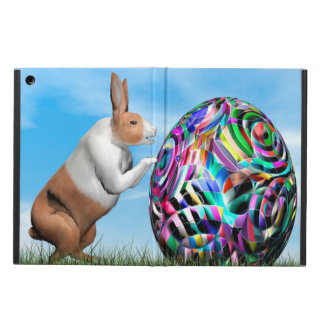 Rabbit pushing easter egg - 3D render iPad Air Case