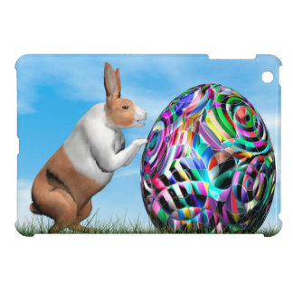 Rabbit pushing easter egg - 3D render iPad Mini Case