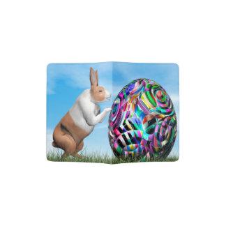 Rabbit pushing easter egg - 3D render Passport Holder