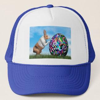 Rabbit pushing easter egg - 3D render Trucker Hat