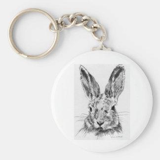 Rabbit Rabbit Basic Round Button Key Ring