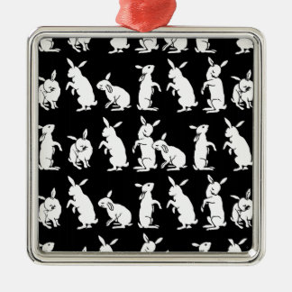 Rabbit Rabbits Silhouette Bunny Rabbits Easter Christmas Ornaments