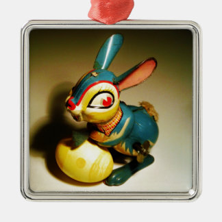 rabbit rabbits toy and easter yellow egg christmas tree ornament