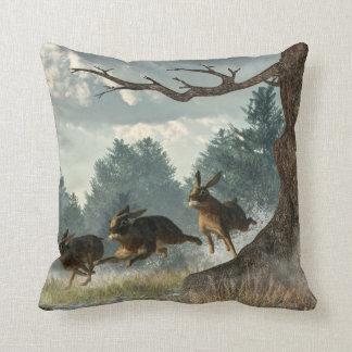 Rabbit Race Cushion