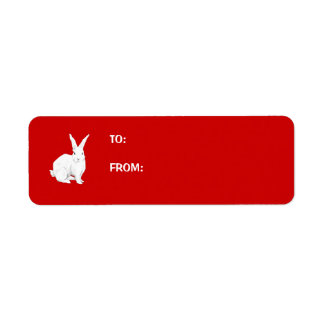 Rabbit red Gift Tag Label Return Address Label