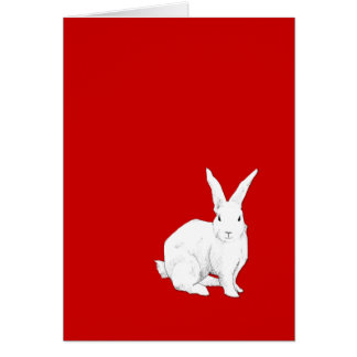 Rabbit red Note Card