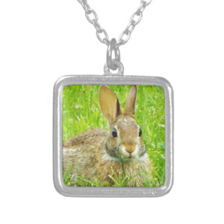rabbit silver plated necklace