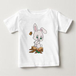Rabbit Sitting on Stump Baby T-Shirt