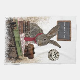 rabbit tea towel