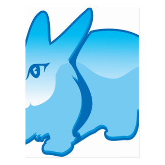 Rabbit vector postcard