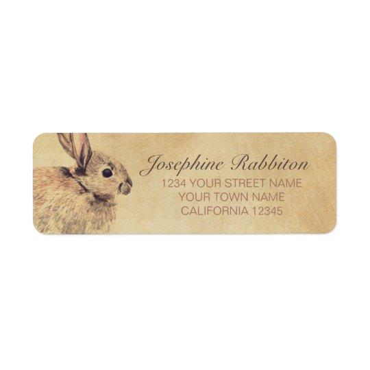 Rabbit Watercolor Sketch Return Address Label
