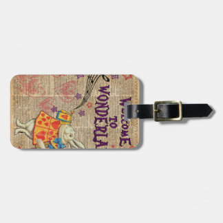 Rabbit Welcome To .. Alice In Wonderland Luggage Tag