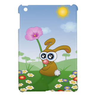 Rabbit with Big Eyes sitting on Field iPad Mini Covers