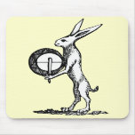 Rabbit with Drum Mousepads