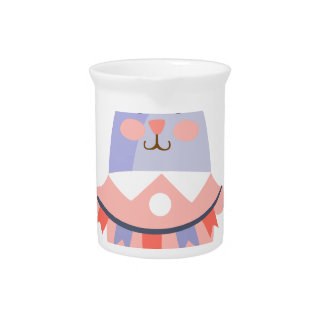 Rabbit With Party Attributes Girly Stylized Funky Pitcher