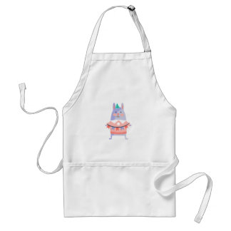 Rabbit With Party Attributes Girly Stylized Funky Standard Apron