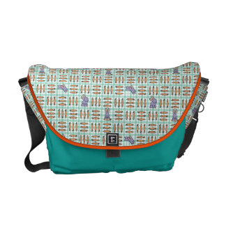 Rabbits and Carrots Messenger Bags