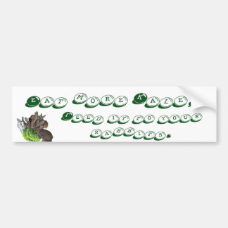 Rabbits and Kale Bumper Sticker
