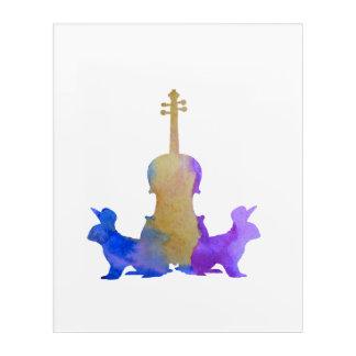 Rabbits and viola acrylic print