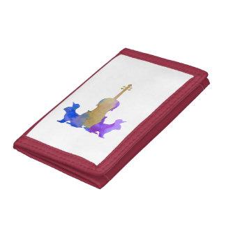 Rabbits and viola tri-fold wallet