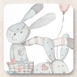 rabbits beverage coasters