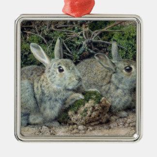 Rabbits Christmas Tree Ornament