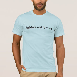 Rabbits eat lettuce T-Shirt