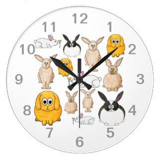 Rabbits. Large Clock