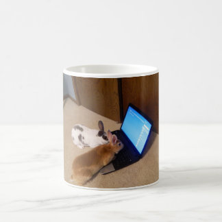 Rabbits On Web by JokeApptv Tm Coffee Mug