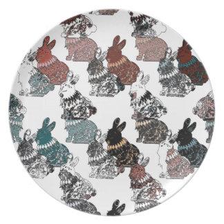 Rabbits Party Plates