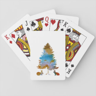 Rabbits Playing Cards