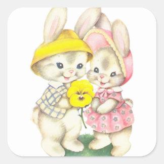 Rabbits Square Sticker