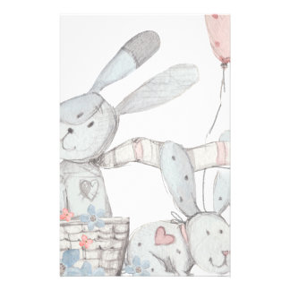 rabbits stationery