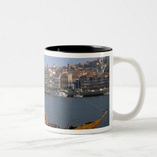Rabelo Boats, Porto, Portugal Two-Tone Coffee Mug