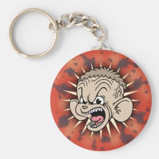 Rabid Hamster Basic Round Button Key Ring