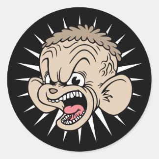 Rabid Hamster Round Sticker