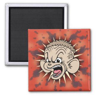 Rabid Hamster Square Magnet