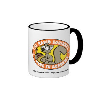 Rabid Squirrel Kung Fu Ringer Coffee Mug