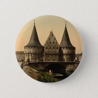 Rabot Gate, Ghent, Belgium 6 Cm Round Badge