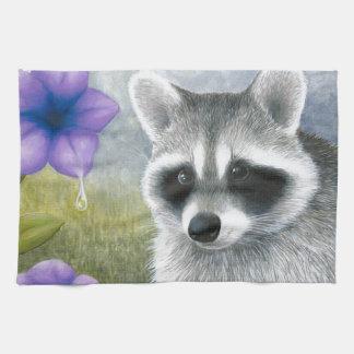 Raccoon 20 tea towel