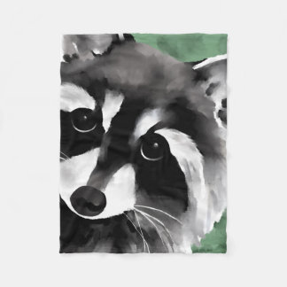 Raccoon Art Blankets
