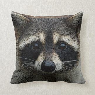 Raccoon Baby Adorable Face Mask Up Close Pillow
