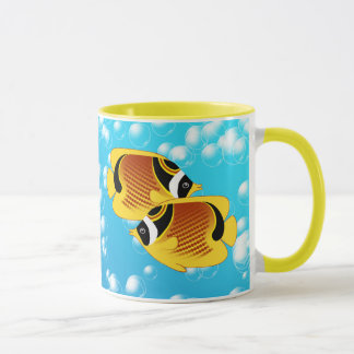Raccoon Butterflyfish in Bubbly Water Mug