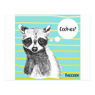 Raccoon_Cookies_113323534.ai Postcard