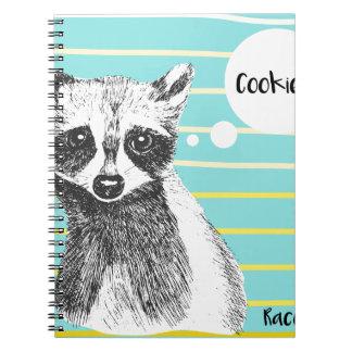 Raccoon_Cookies_113323534.ai Spiral Notebook