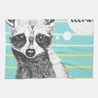Raccoon_Cookies_113323534.ai Tea Towel
