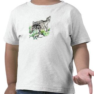 Raccoon & Frog, Sumi-e T-shirts