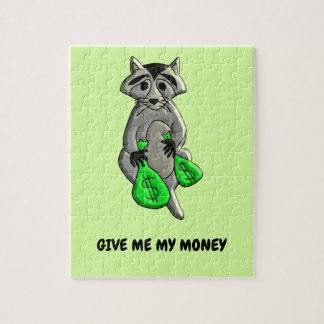 Raccoon - Give Me Money Jigsaw Puzzle