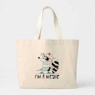 Raccoon: I'm a medic Jumbo Tote Bag