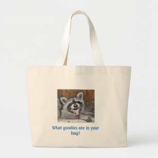 Raccoon Laughing grocery tote